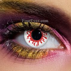 d111f4a8fe1 Blood Splat Halloween Contact Lenses (Pair) White Out Contacts