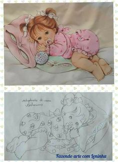 Drawing Now, Boy Drawing, Painting & Drawing, Baby Painting, Fabric Painting, Vintage Baby Pictures, Eye Drawing Tutorials, Baby Cross Stitch Patterns, Diwali Craft