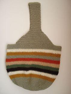 Crochet tote bag  crochet shopping bag  crochet retro  tote