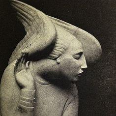 birdonwing:  Ivan Mestrovic's, Archangel Gabriel from a Brooklyn Museum Catalogue published in 1924.