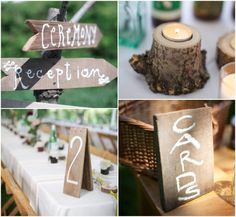 Wood Wedding Decorations