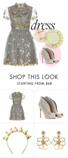 """""""Dress"""" by sixela14 ❤ liked on Polyvore featuring Valentino, Gianvito Rossi, Rock 'N Rose and Oscar de la Renta"""