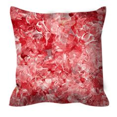 BLOOM ON RED Mauve Floral Pattern Suede Decorative Throw Pillow Cover by EbiEmporium, #Christmas #homedecor #xmasdecor #festive #pillow #cushion #cushioncover #red #floral #flowers #cottagedecor #colorful #geometric #abstract #suede #feminine #holidaydecor #floralpillow