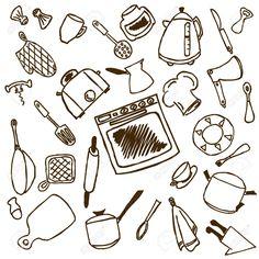 immagine correlata | utensili cucina disegni | pinterest | search - Utensili Cucina On Line