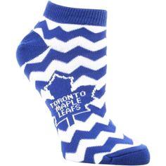Women's Toronto Maple Leafs Chevron Stripes Ankle Socks