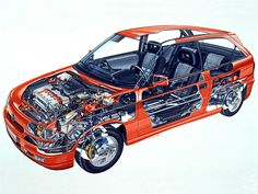 1991-1994 Opel Astra GSi (F) - Illustrated by G Betti