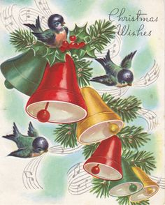 christmas cards with bells
