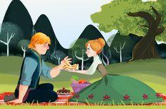 Elsa et Kristoff