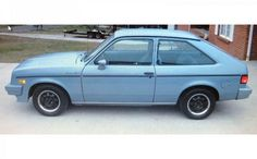 """According to AutoWeek, """"Project was the code name for the new Chevette which was intended to be GM's first world car. This 1984 Chevrolet Chevette CS. Chevrolet Vega, Chevy, Smart Car Body Kits, Amc Gremlin, Murdered Out, Ford Pinto, Old Vintage Cars, Hatchbacks, Cool Gadgets To Buy"""