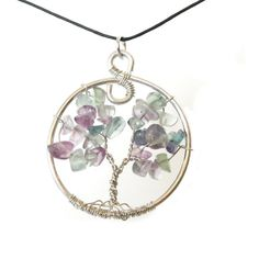 Items similar to Natural Fluorite Tree of Life Pendant by Sweetfire Creations on Etsy Tree Of Life Pendant, Make You Smile, Etsy Shop, Pendant Necklace, Make It Yourself, Drop Earrings, Personalized Items, Trending Outfits, Unique Jewelry