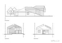 Planos de elevación de casa moderna