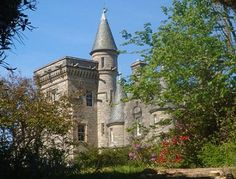 Glengorm Castle, Tobermory, Isle of Mull, Argyll  - built in 1860 and known for its dramatic scenery; is now a B & B  - caters to all tastes - from the luxurious Turret Flat to one of the 6 modest but comfortable cottages on the grounds
