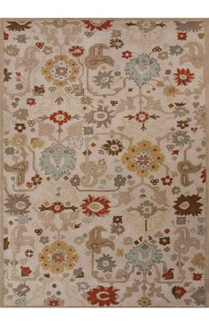 Jaipur Rugs Narratives NA10 Antique White Rug | Country & Floral Rugs