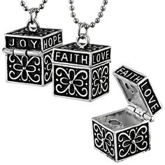Prayer Box Necklace at The Animal Rescue Site - Prayer boxes are fun to wear and they help to keep your wishes in focus.