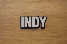 """Aluminium Schriftzug """"Indy"""""""
