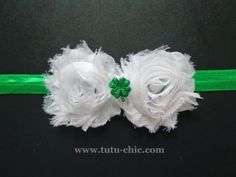 St patricks day tutu Headband: baby headbands, newborn headband, infant headband, toddler headband, childrens headband