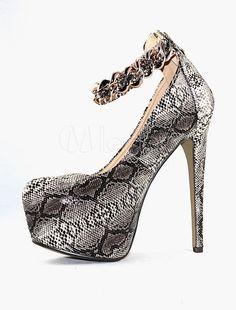 PLEASER plateau cinturino alla caviglia sandalo con pietre DIAMONDCUT chiaro / Argento
