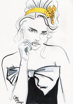 Yellow Bow by ChaCha http://chacha-illustrations.blogspot.com/
