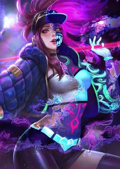 Tagged with art, video games, games, league of legends, lol; Lol League Of Legends, Akali League Of Legends, Female Characters, Anime Characters, Cyberpunk, Akali Lol, Fan Art Anime, Kawaii, Game Character