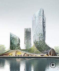 XTU architects presents an algae-covered, organic-shaped building proposal in hangzhou Architecture Career, Architecture Program, Organic Architecture, Unique Architecture, Architecture Portfolio, Concept Architecture, Futuristic Architecture, Architecture Websites, Computer Architecture