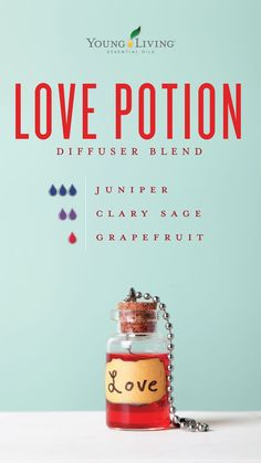 Young Living 512777107573408501 - Fall in love with this Love Potion diffuser blend! It's an irresistible blend of 3 drops Juniper, 2 drops Clary Sage, and 1 drop Grapefruit essential oils. Source by WhereToBuyRollerBottles Essential Oils For Headaches, Yl Essential Oils, Essential Oil Diffuser Blends, Young Living Essential Oils, Doterra Diffuser, Yl Oils, Juniper Essential Oil, Cedarwood Oil, Grapefruit Essential Oil