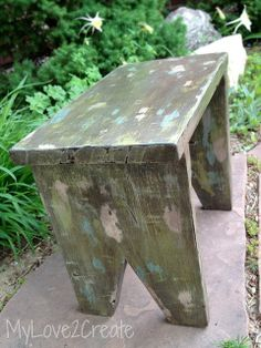 Vintage DIY Step Stool