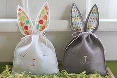 Realizzare un sacchetto pasquale a forma di coniglio #easterDIY #DIY #bunny