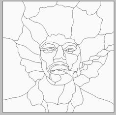 Jimi Hendrix pattern by Wendy's Stained Glass