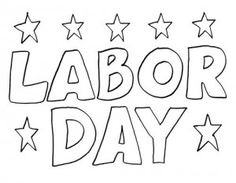 Labor Day Clipart Crafts Sheets