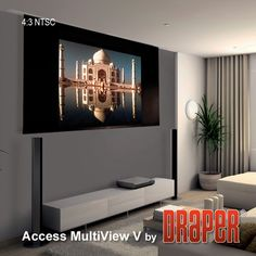 Draper's Access MultiView/Series V Electric Projection Screen http://wiredbydesignwpg.com