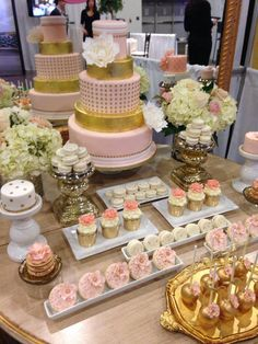 Pink and Gold Sweet Table!