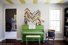 East Coast Creative: Green Painted Piano {Annie Sloan Chalk Paint}