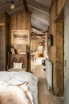 Cabins And Cottages: Rustic and romantic, Firefly cabin has the time-wo. Cabin Homes, Log Homes, Rustic Lake Houses, Rustic Cottage, Rustic Cabins, Log Cabins, Little Cabin, Cabins And Cottages, Small Cabins