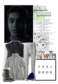 """""""Until Dawn;Matt (character inspiration)"""" by kwiatekmarek ❤ liked on Polyvore featuring Avelon, James Perse, J.Crew, SOREL, Inspired, inspiration, videogame and untildawn"""