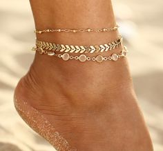 Vintage Fußkettchen im Boho-Stil Source by bohoYou can find Anklets and more on our Summer Jewelry, I Love Jewelry, Beach Jewelry, Luxury Jewelry, Women Jewelry, Jewelry Shop, Jewelry Roll, Cheap Jewelry, Stone Jewelry