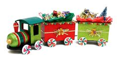 Nicole™ Crafts Santa Wooden Train #christmas #craft CUTE!! -Maybe for dad??