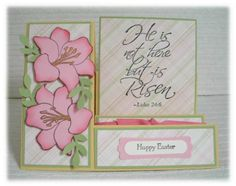 He is Risen! Side Step Card, Step Cards, Shaped Cards, He Is Risen, Pop Up Cards, Easter Crafts, Homemade Cards, Happy Easter, I Card