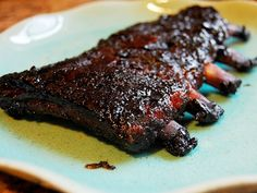 Pečená žebírka na medu - | Prostřeno.cz Steak, Food, Essen, Steaks, Meals, Yemek, Eten