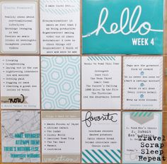 "Using Project Life journaling cards in a Days of Lists"" challenge. Project Life Scrapbook, Project Life Layouts, Project Life Cards, Project 365, Pocket Scrapbooking, Scrapbook Pages, Project Life Karten, Journal Cards, Life Journal"