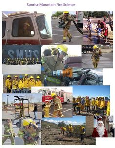 Sunrise Mountain High School Fire Science working, learning and giving.