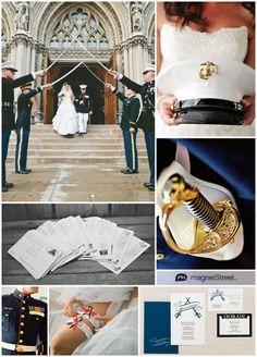 Marine Corps Wedding Invitation + military wedding ideas
