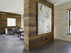 Stylish woodsy room divider