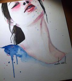 """Marta Rosell Art Illustration """"y se asfixió con las palabras que nunca dijo"""""""