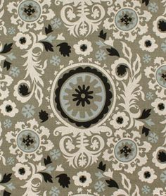 Premier Prints Suzani Stone Denton Fabric - $12.7 | onlinefabricstore.net I think this would e awesome somewhere when we redo the living room
