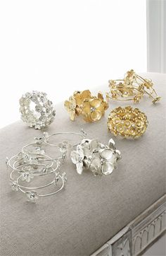 Tasha Floral Cluster Stretch Bracelet via @Nordstrom #wedding