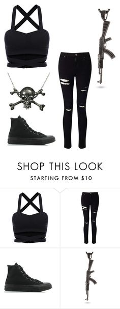 """""""Unmasked"""" by supercait12 on Polyvore featuring Miss Selfridge, Converse and King Ice"""