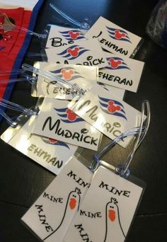 Luggage Tags - Ways To Successfully Navigate Air Travel -- Click image for more details. Disney Halloween Cruise, Disney Cruise Tips, Disney Diy, Disney Crafts, Disney Vacations, Disney Trips, Christmas Cruises, Royal Cruise, Cruise Europe