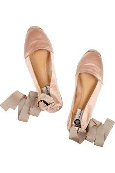 Lanvin ankle-wrap espadrille flats