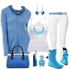 Do u love this collection? #Upper #Top #Jeans #Earrings #Boots #Handbag #Fashion