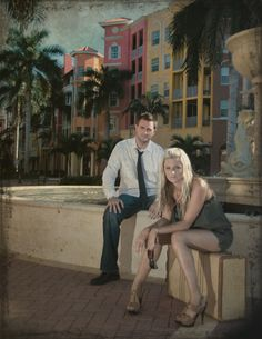 Had to post this photo of us just because I am in love with those buildings! We took this with the tripod in Naples, Fl